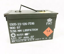Neue NATO US Army Ammo Box Metall Munitionskiste Metall Luftdicht Gummidichtung