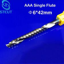 2pc AAA 6mm Acrylic PVC plastic endmill single flute CNC router bits 6mmx42mm