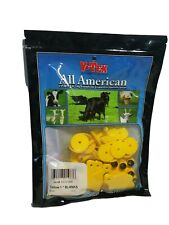 Y-Tex Mini 1 Star Tags Sheep/Goat/Calf Fade Tear Resistent Blank Yellow 25 pack