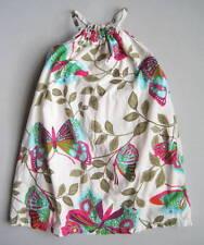 Gap Girls 8 Yrs WOODSTOCK Butterfly Print Halter Dress EUC Brown Blue Pink