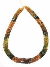 """1 Strand Multi Petro Tourmaline Rondelle Faceted Gemstone Beads 4-4.5mm 14""""Inch"""