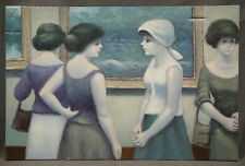 "Oil Painting ""Elegenat Women"" signed Jean Daumier (FRENCH, 1948)"