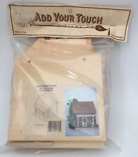 Add Your Touch Wooden Birdhouse Kit Log Cabin 7837 Easy To Assemble