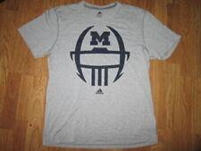 Mens Adidas Climalite Michigan Wolverines athletic tee t shirt Xl