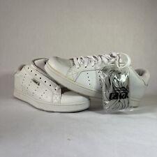 Vintage RARE Lakai Kingston Skate Shoes White Leather Sz 9.5