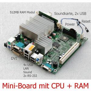 Main Board D2703-A12 512MB Gbit Lan RS232 FSC S500 Mini-Itx AMD Mobile 2100+ M23