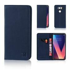 32nd Classic Series - Real Leather Book Wallet Case Cover for LG V30 Lg.v30.32ndclassic-navyblue Navy Blue