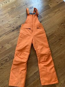 Drift By Arctix youth snow bibs Size Medium Bright Orange