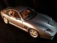 Burago 1/18 ferrari 550 maranello 1996 silver very good condition