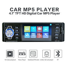 1 Din HD Screen Stereo Car Radio 4.1 inch Bluetooth MP5 Player FM Aux W/Remote