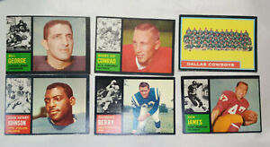1962 Topp Football Lot of 6 Cards