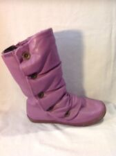 Blowfish Purple Mid Calf Leather Boots Size 36