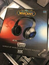 Used Sound Blaster World of Warcraft Black/Red THX Wireless Headset Boxed
