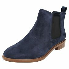 Clarks Womens BOOTS Taylor Shine 2611286 Navy 5.5 D