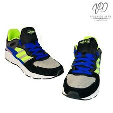 Adidas Crazy Chaos Men's Running Shoes Green And Blue Leather Sneakers Size 8.