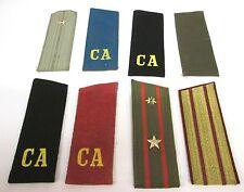 Armée Soviétique : Collection de 8 épaulettes diverses - URSS