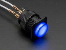 Push Button - Latching On/Off Switch 16mm Illuminated Blue [1476]