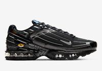 Nike Tuned 3 Mens Black White Blue Shoe Sneaker Trainer All Sizes