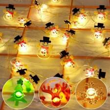 Xmas Tree Ornaments LED Lights String Waterproof Merry Christmas Hanging Decor