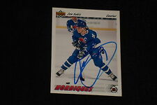 HOF JOE SAKIC 1991-92 UPPER DECK SIGNED AUTOGRAPHED CARD #333 NORDIQUES