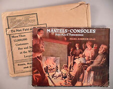 Sears Mantels-Consoles CATALOG - 1910's ~~ fireplace furnishings, fireplaces