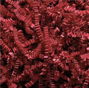 DEEP RED RECYCABLE ZIGZAG SHREDDED PAPPER ACID FREE  GIFT PACKAGING FILLER UK
