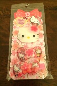Hello Kitty Hair Clip Hair Ties Cherry Blossom by Sanrio Limited Edition New