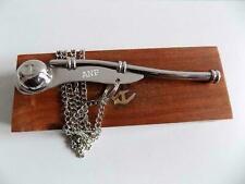 "Nauticals Maritime 5"" Brass Whistle W Chain Wooden Box Nickle Boatswain Bosun Ca"