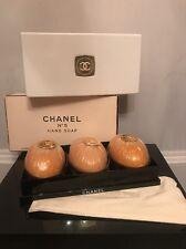 Vintage 3 PC Set Chanel No 5 Perfume Bar Hand Soaps Egg Shaped 3.25oz EACH