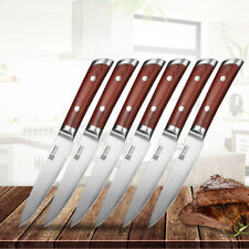 Stainless Steel 6pcs Kitchen Steak Knives Set Razor Sharp Table Meat Slicing Cut