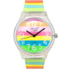 Fashion Women Watches Rainbow Lovely Children Quartz Wristwatch Electronic Watch