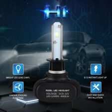 H1 50W 8000LM LED Headlight Bulb CSP High/Lo Beam 6500K For Focus Fiesta C-Max