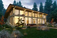 1342 sq.ft Timber Frame Kit Tf-B-157_2+loft Wood Prefab Diy Building House Cabin