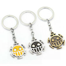 One Piece Trafalgar Law Skull Metal Cosplay keychain keyring pendant Key Chain
