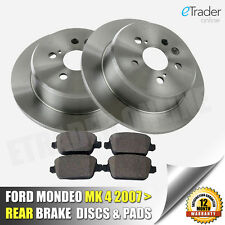 For Ford Mondeo Mk4 Rear Brake Discs & And Pads NEW Premium Quality