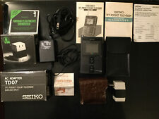 1986 - Vintage ! Mini TV Portable SEIKO - LVD-302  + Accessoires - Made in Japan
