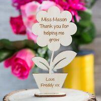 Personalised Teacher Christmas Gifts School Nursery School Leaving Flower Ply