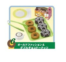 "Re-Ment ""DONUTS TO GO #6-Fugde and plain, 1:6 mini Barbie size kitchen food"