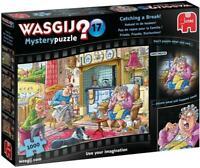 Jumbo 19175 Wasgij Mystery 17-Catching a Break 1000 Piece Jigsaw Puzzle, Multi