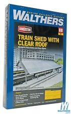 Walthers 933-2984 Train Shed w/ Clear Roof Kit HO Scale Train