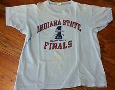 Indiana State Sycamores Basketball Finals NCAA 1979 Champion Blue Bar T-Shirt Lg