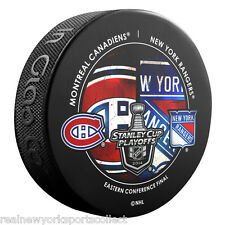 2014 NEW YORK RANGERS VS. MONTREAL CANADIENS STANLEY CUP PLAYOFFS SOUVENIR PUCK