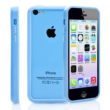 Blue Soft TPU Protector Bumper Frame Snap Case Cover for Apple iPhone 5C