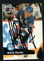 Mark Hardy #442 signed autograph auto 1991-92 Pro Set Hockey Trading Card