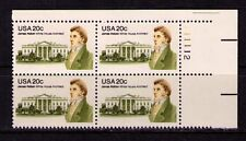 US USA Sc# 1936 MNH FVF PLATE# BLOCK James Hoban White House Architect Irish