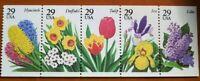 Scott#: 2760-2764 - Garden Flowers Issue Pane of 5 MNH OG