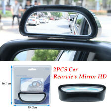 2* ABS+Glass Car Rearview Mirror Blind Spot Side Wide Angle View HD Adjustable