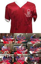 Nottingham Forest 1979 completamente firmado final europea de Copa Camiseta de fútbol Prueba cert. de autenticidad