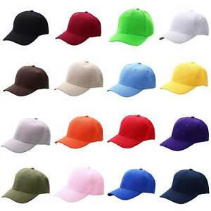 Women Men Solid Baseball Cap Blank Curved Visor Hat Hip Hop Sun Cap Adjustable