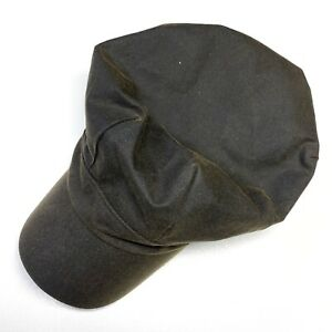 Barbour Waxed Cap Brown Hat Size M